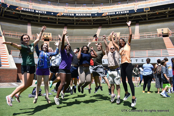2017 RUE students in Neyland Stadium