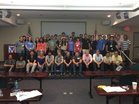 2015 MagLab Summer School participants. Laura Casto (2nd row, 3rd from left). Amanda Clune (2nd row, 6th from left).