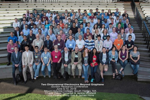 Picture taken by GRC Team. Professor Musfeldt (first row, 5th from left) with conference attendees.