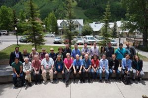 Dr. Musfeldt (first row, 6th from the left) with workshop attendees.