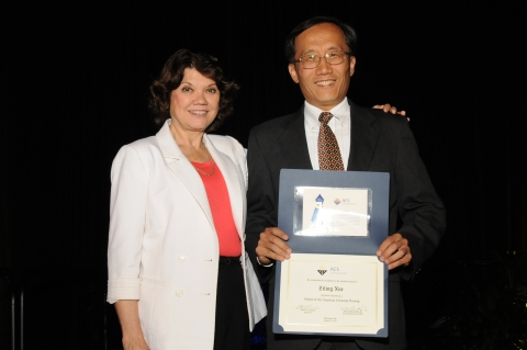 Professor Ben Xue (right) with Professor Donna J. Nelson, ACS Immediate Past President