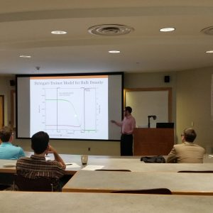 Matthew Dutra presenting his research