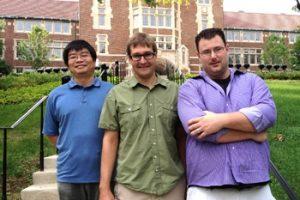 In picture (from left): Zheng Lu, David Jenkins, Alan Cramer