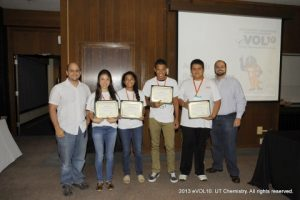 Professors Michael Best (first from left) and Brian Long (first from right) with eVOL10 students at awards ceremony